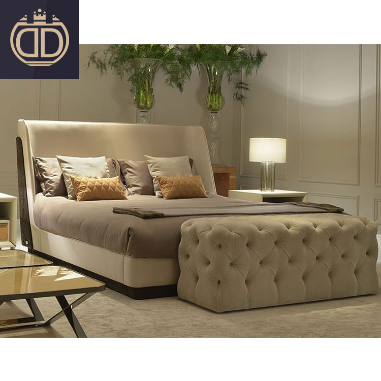 Luxury Modern Brown Leather Bed Bedroom Furniture Set Italian Style Designs Leather Genuine Solid Wood Frame Double Bed Buy Luxurious King Bedroom Furniture Sets Antique Bedroom Furniture Set Royal Furniture Bedroom Sets Product