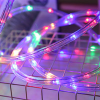Outdoor Rainbow Tube Rope Christmas Holiday Garden Fence Decoration Lights