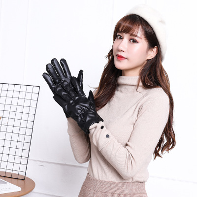Warm touch screen gloves waterproof pu gloves for men <strong>riding</strong> <strong>motorcycles</strong> in winter
