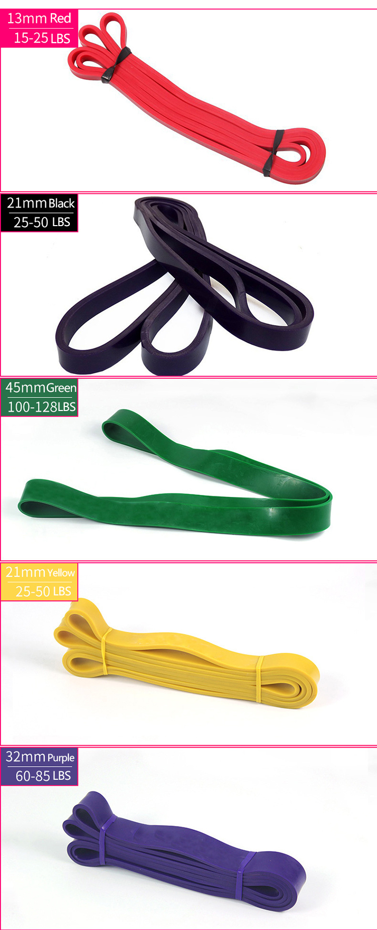 Colorful Latex Fitness Bands Exercise Strap Loop Resistance Pull Up Bands