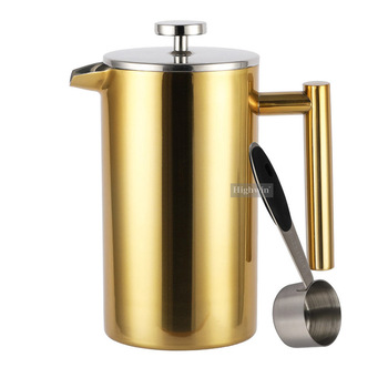 Most popular product highly polished stainless steel Cafetieres coffee plunger 34oz french press coffee plunger34oz