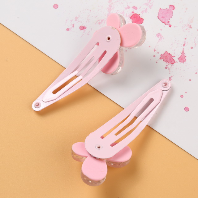 New Lovely Cartoon Kids Butterfly Hair Accessories Mini Pink Baby BB Clips Hairpins Hair Clip