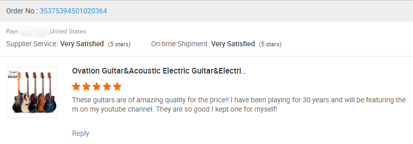 M-4160-EQ Smiger Brand chinese factory Ovation Guitar&Acoustic Electric Guitar&Electric Guitar