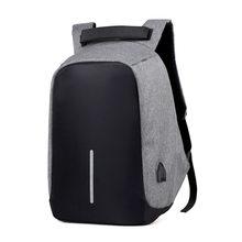 Брендовый рюкзак для мужчин, Противоугонный рюкзак, сумка 15,6 дюймов, ноутбук, Mochila, водонепроницаемый рюкзак, школьный рюкзак, холст(Китай)