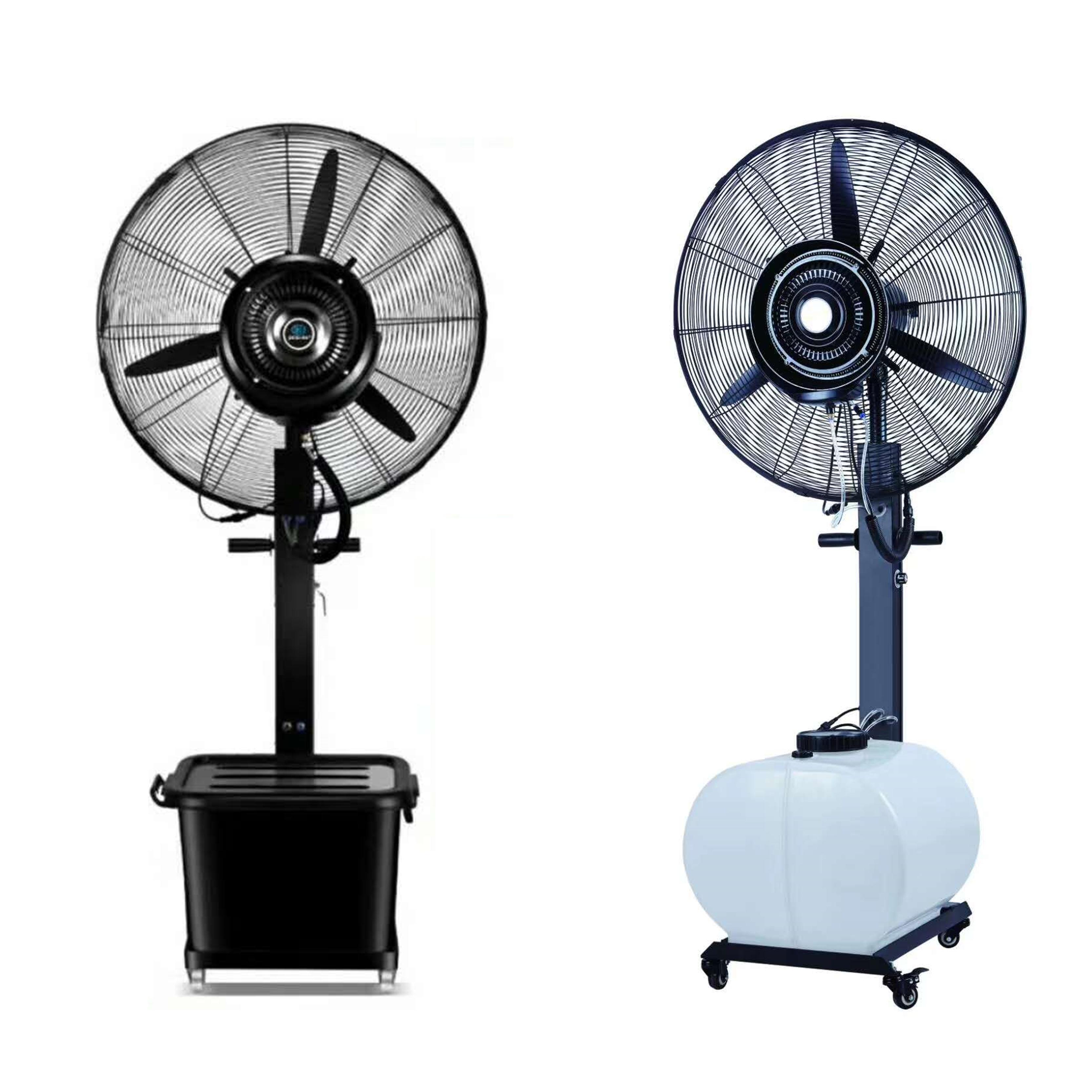 Ventilador Industrial 26 polegadas 30 polegadas spray de água ventilador da névoa