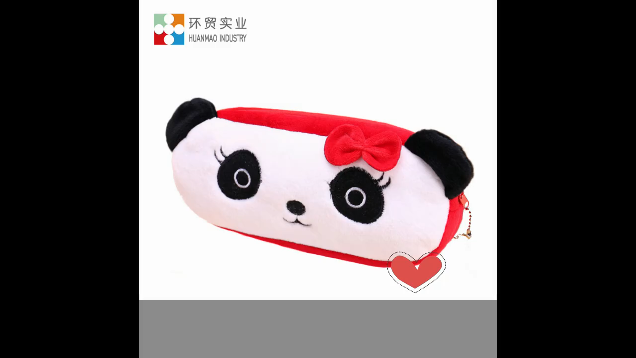 Cute Plush Purse Cartoon Animal School Students Bag Kawaii Kids Plush Pen Bag Box Stationery Bag For Children Girls Boys Baby