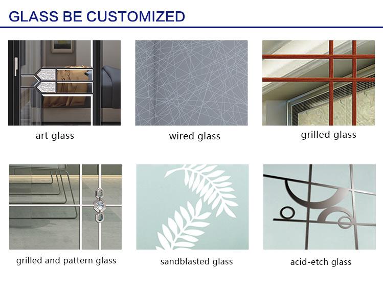 Alwew Aluminum Glass Patio Exterior Bifold Doors Double Glazing aluminum sliding door