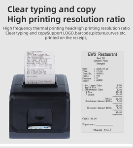80mm POS Thermal Printer with auto cutter (WH-P12)