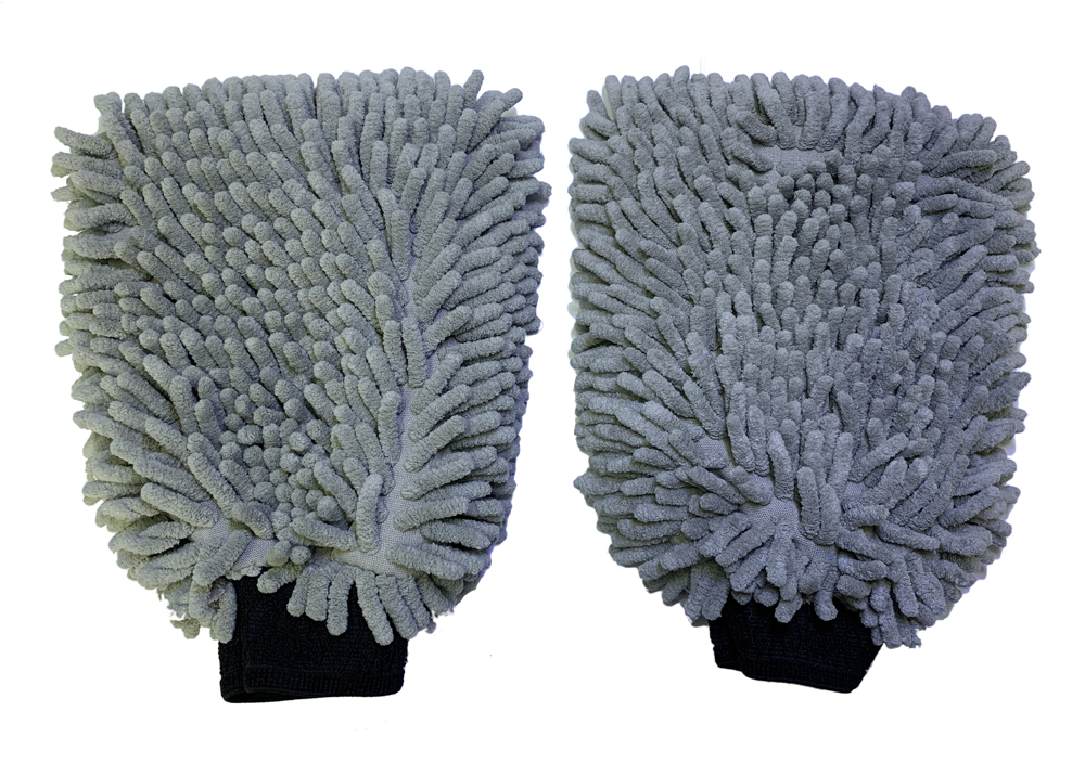 wholesale china product car detailing wash mitts microfiber chenille gloves microfiber car care cleaning gloves