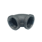 Elbows Black Elbow Free Sample BS/ En10242 Banded Elbows Black Iron Pipe Fittings Malleable Cast Iron 90 Degree Elbow