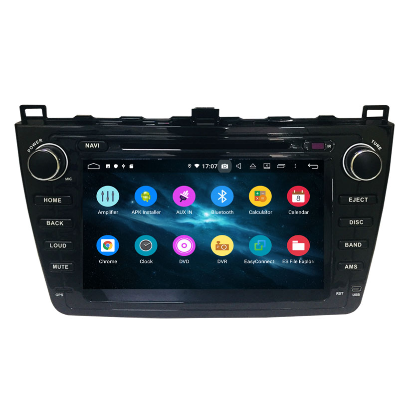 Android 9.0 4 + 64g car audio touch screen multimediale di navigazione gps per mazda 6 ruiyi