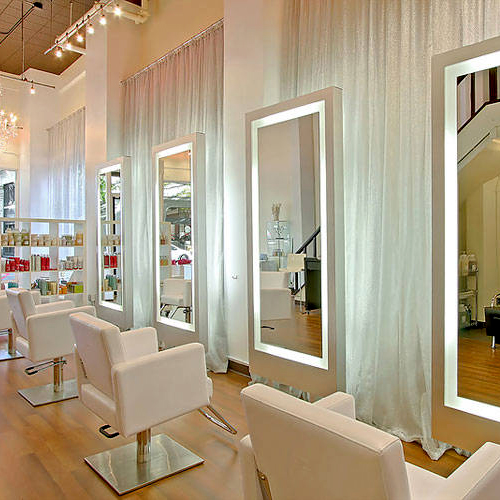 Beauty Salon Station Barber Shop Mirrors with LED Lights
