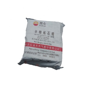 Price KUNLUN Brand 56 58 Fully Refined Paraffin wax/Semi Refined Paraffin wax
