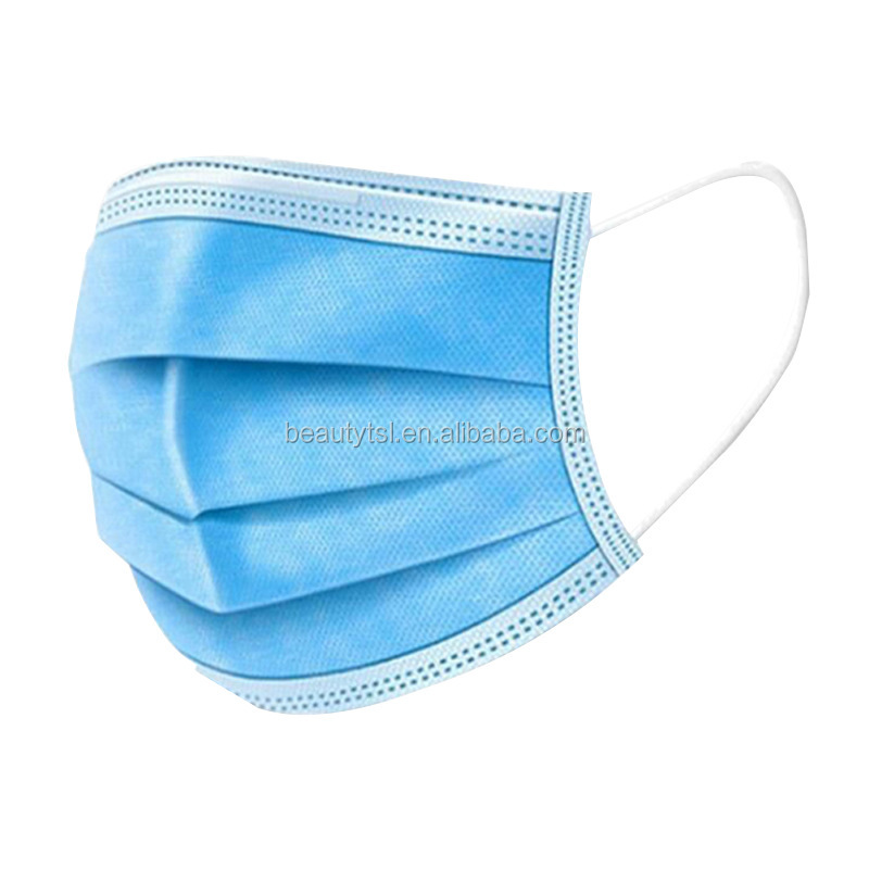 face mask 06 3Layers Dustproof Disposable Personal Protective Face Mask with Earloop Non Woven In Stock