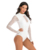 White Sexy Transparent Lace Long Sleeve Surf Bikini Swimwear Womens Surfing Swim Wear