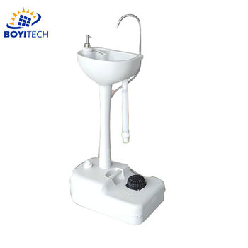 Portable Camping Sink with Towel Holder & Soap Dispenser - 19L Water Capacity Hand Wash Basin Stand