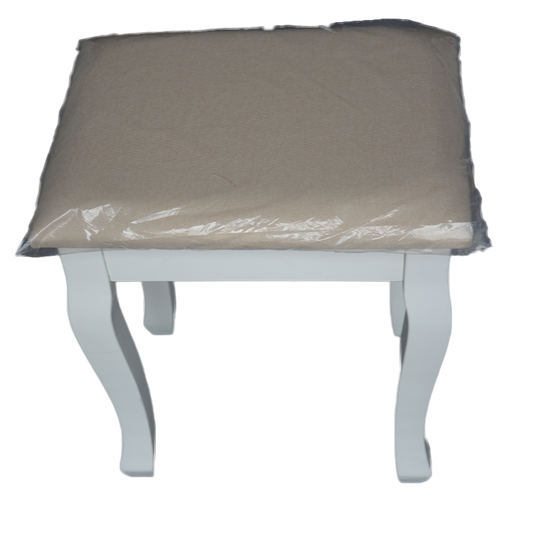bedroom new arrival gold ottoman stool