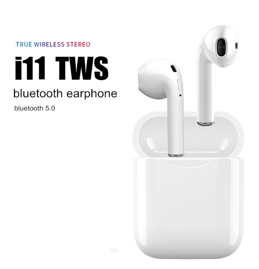 I11 TWS Bluetooth 5.0 Wireless Earphones Earpieces Mini Earbuds with Mic