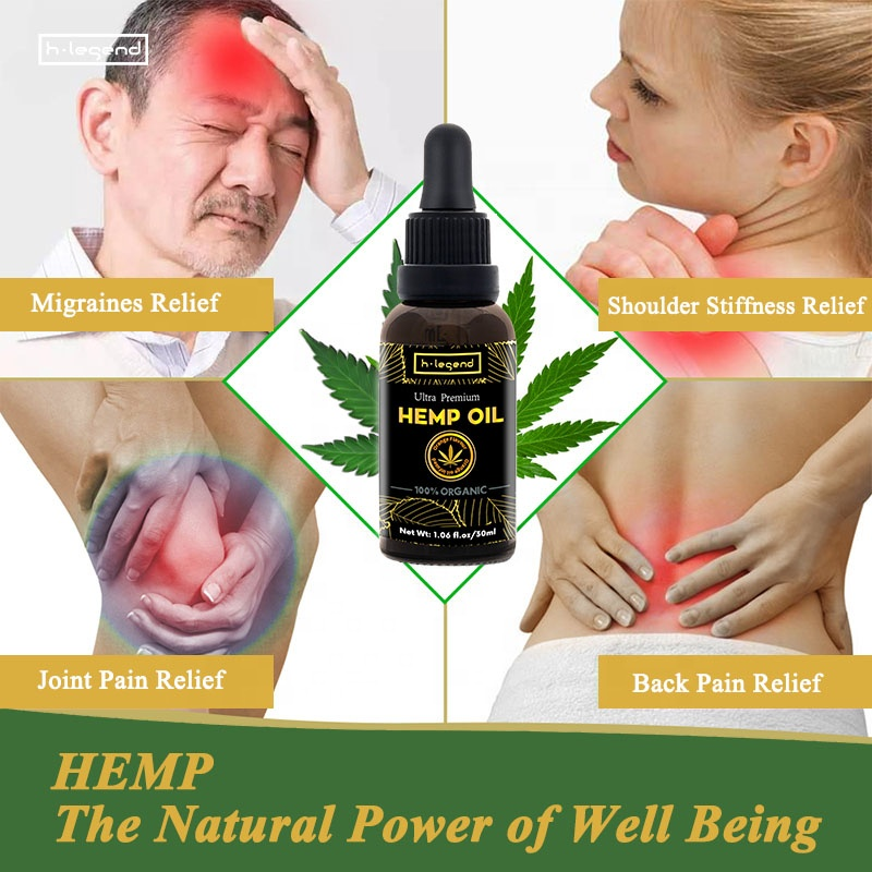 Private Label Oral Use Hemp Seed Extract Orange Flavor Hemp Oil for Pain Anxiety Stress Relief Anti Inflammation
