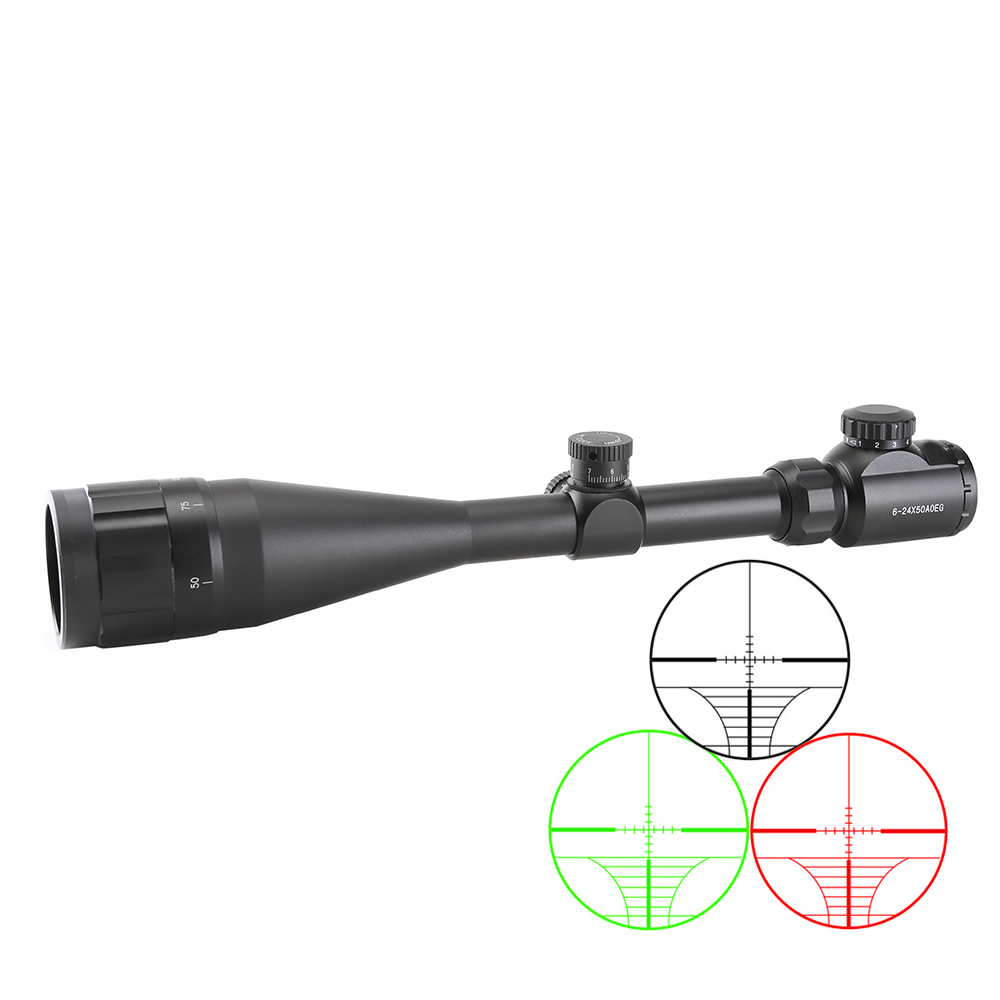 SPINA 6-24X50 AOE Adjustable Green Red Dot  hunting scopes optics riflescope tactical