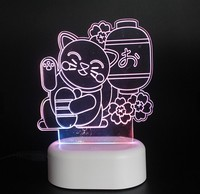 promotional USB rechargeable fancy acrylic led night light good quality led night light