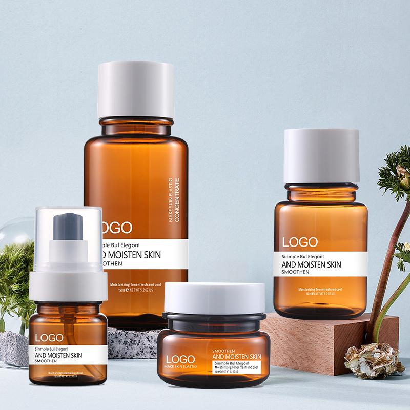 Braun behälter Kosmetische creme bernstein kunststoff leere 50g jar pet kunststoff klar kunststoff jar