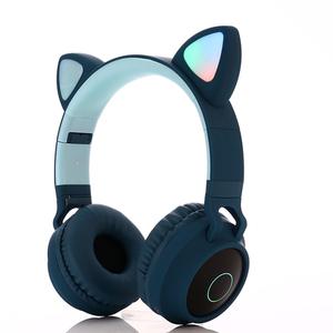 Trade Assurance Led lighting cute cat ear silent party headphones wireless