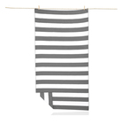 Logo Beach Custom Logo Printed Wholesale Striped Microfiber Suede Beach Towel