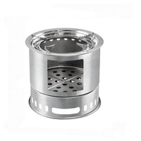 Freestand stainless steel wood burning stove outdoor camp burner customized