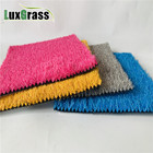colorful color pink green color playground artificial turf grass for crafts