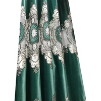 wholesale best selling black out green bedroom curtains