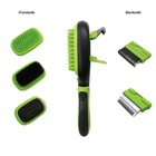 Eco-Friendly Pet Grooming Comb for Dogs Pet Hair Grooming Tool Double Sided Massage Deshedding Dematting Pin and Bristle Brush Comb for All Breeds Dogs Cats