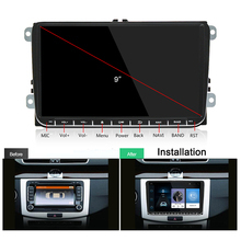 Autoradio Android 8,1 Auto Radio Stereo 2 Din Hd 1024*600 Touch Screen MP3 / MP4 Spieler