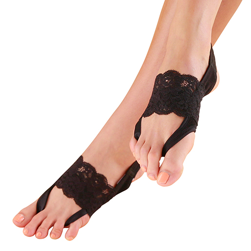 Fashionable toe motion bunion lace ankle yoga socks made in Thailand