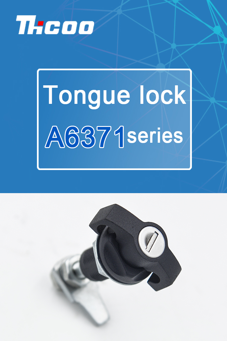 telecom cabinet black texture paddle lock cam adjustable cabinet door turning tongue mini cam lock