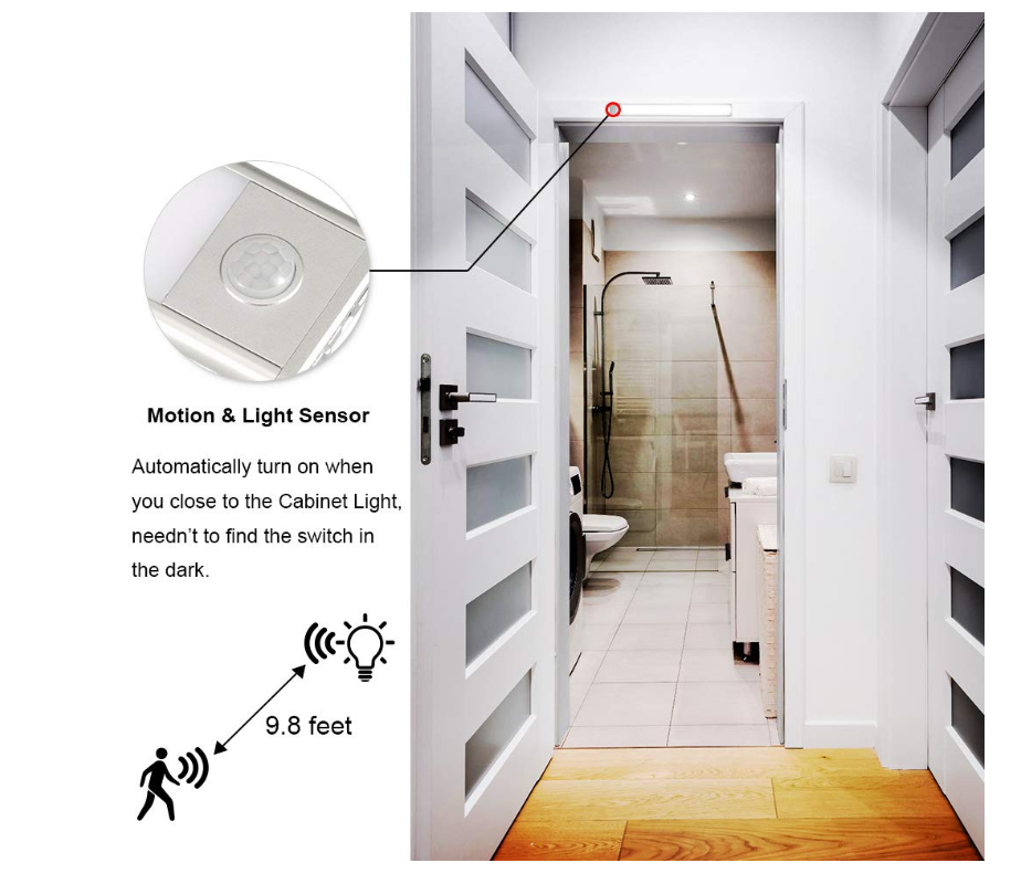 wireless LED Under Cabinet Light Motion Sensor Recharge cable USB Night Light Closet Lamp Wardrobe Light for Indoor