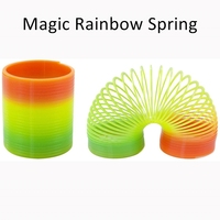 Baby Creative Educational Toys Circle Colorful Magic Rainbow Neon Plastic Spring Toy