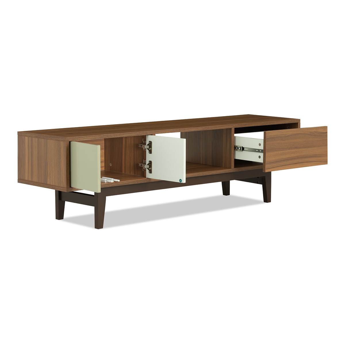 Wooden furniture Modern simple MDF tv units design for living room