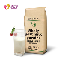 Dry instant whole goat milk powder in 25kg bag for adult