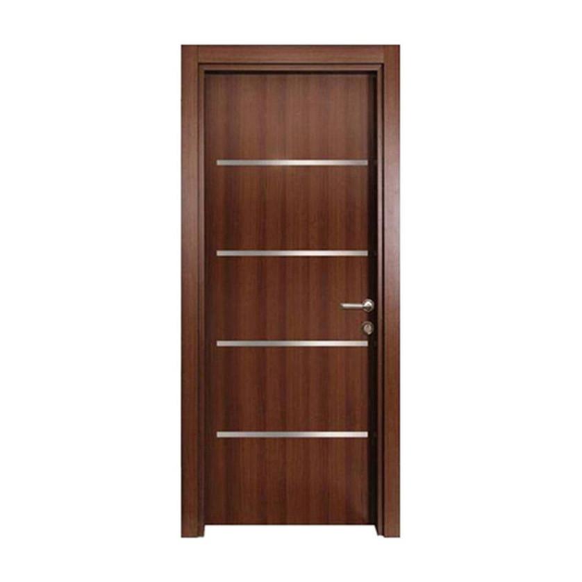 Walnut Modern latest design wooden melamine hotel door interior room door