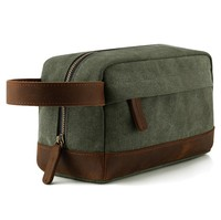 Wholesale Custom Washed Canvas Travel Toiletry Bag For Men