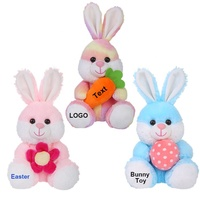New Arrival Easter Gift Plush Easter Bunny With Eggs Custom Cute Soft Stuffed Plush Rabbit Toy Decorations