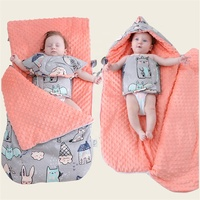 100% Polyester Super Soft Minky Dot Baby Swaddle Blanket