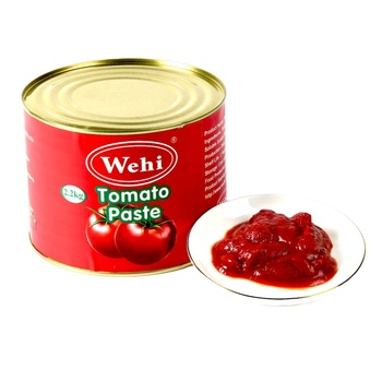 Tin Packing 2.2kg Hard Open Canned Organic Tomato Paste With Halal Certificate