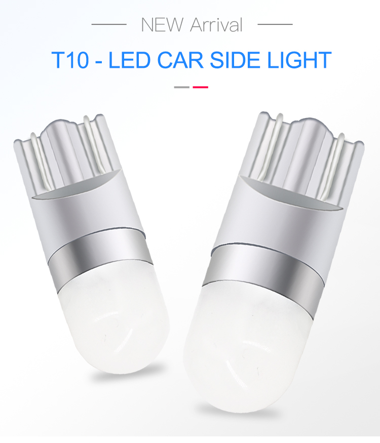 Factory Wholesale T10 W5w 194 3030 1SMD Led Car Bulbs 0.8W 100LM Auto Car Width Lamp Licence Plate Lights Power ZL024