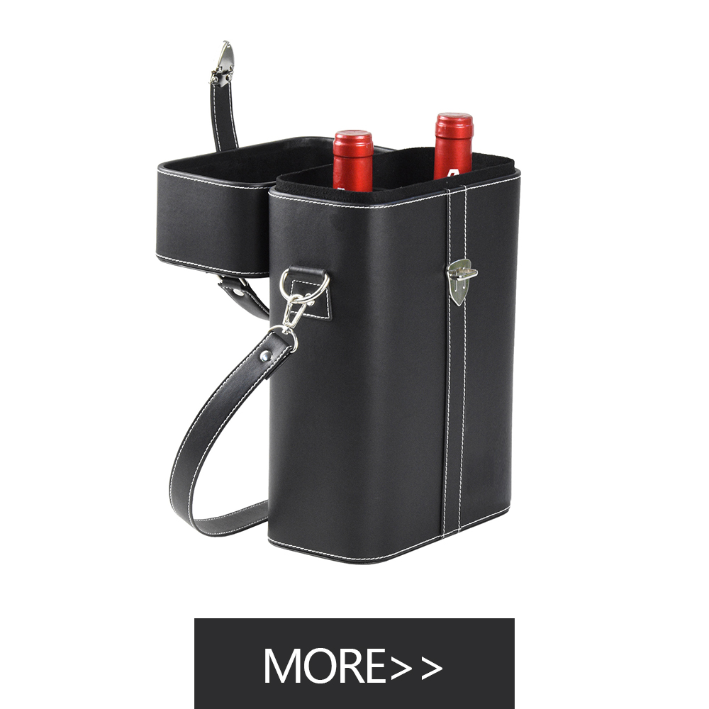 personalized wine packaging luxury leather wine 2 bottle carrier bag Wine Packaging Boxes