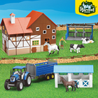 Plastic Toy For Kids Plastic Kids Toy Import Big Harvest Farm Newholland Tractor Play Set Plastic Farm Animal Toy For Kids Included Milk Station Horse Shield Barn