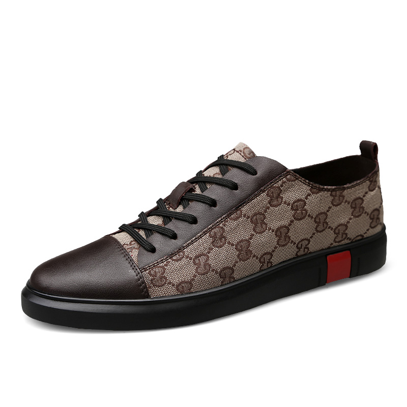 Wholesale Genuine Leather Tenis Sneakers Fashion Walking Shoes Luxury Designer Men's Branded Casual Shoes Men Shoes