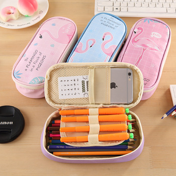 Cartoon Pencil Bag Multifunction Stationery Bag PU Pencil Bag Student Pencil Case