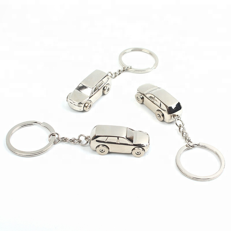 Supplier Custom Unique Electroplating 3D Car Shaped Metal Keychain for Promotion and Gifts
